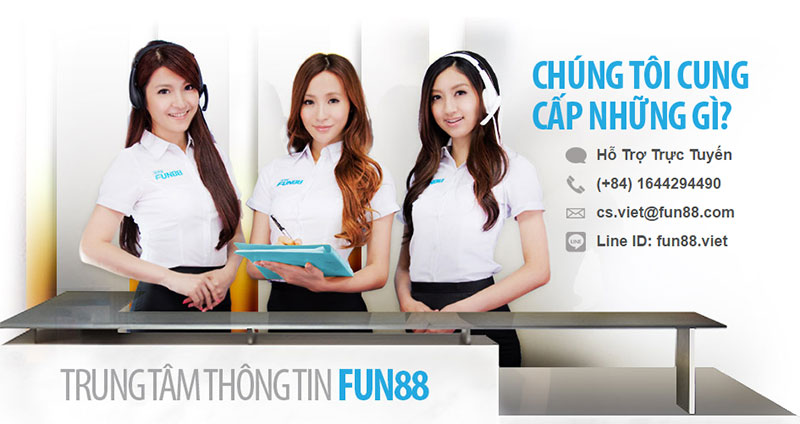 Đội ngũ nhân viên chăm sóc khách hàng nhà cái uy tín Fun 88