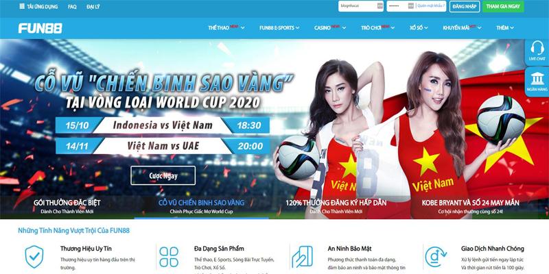 Chỉ 30s đăng ký fun88 – Nhà cái cá cược trực tuyến uy tín hàng đầu Châu Á